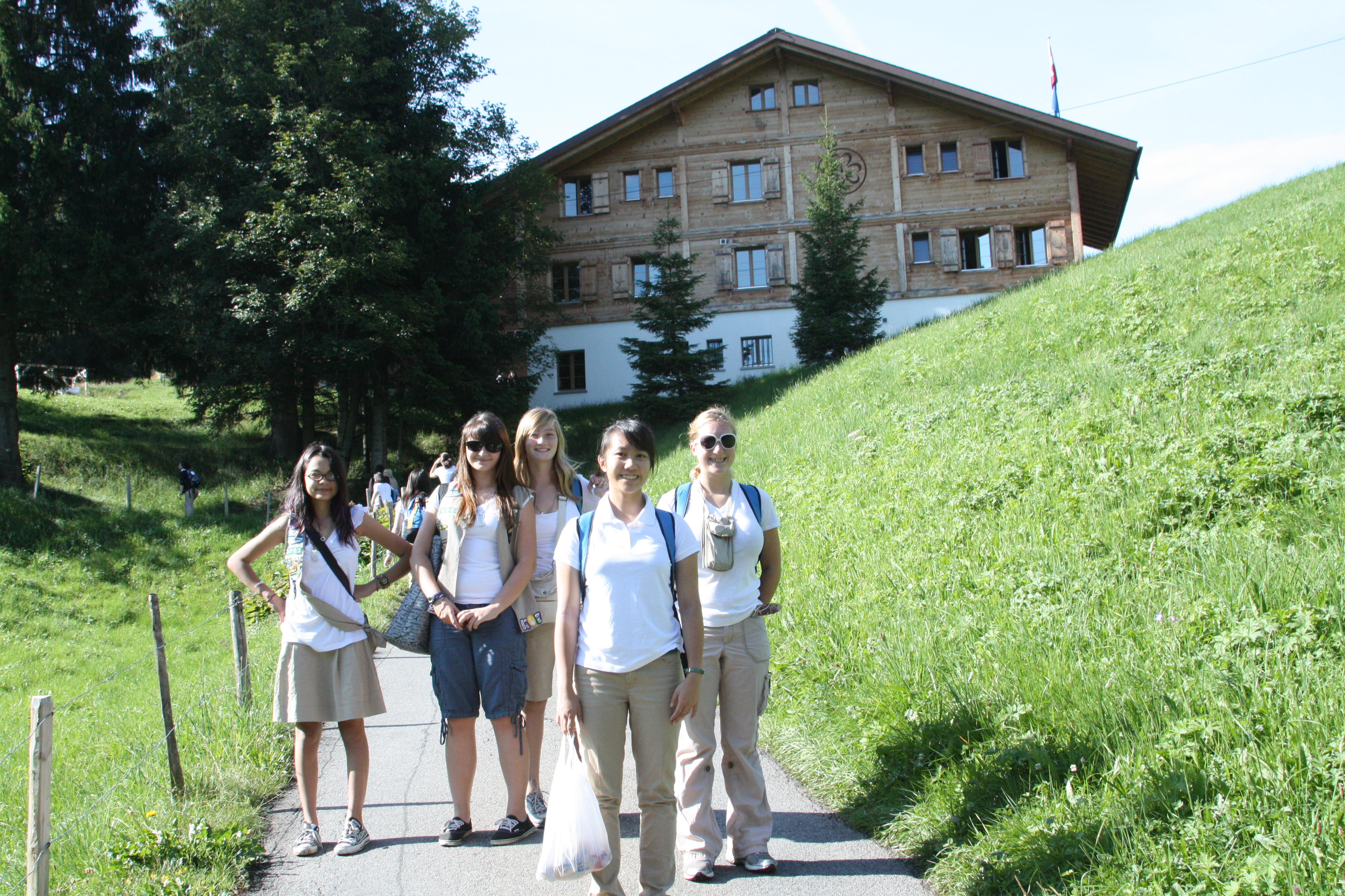 girls at Our Chalet in Switzerland