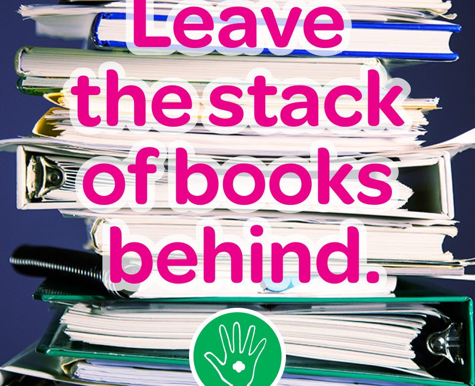 leave the books behind
