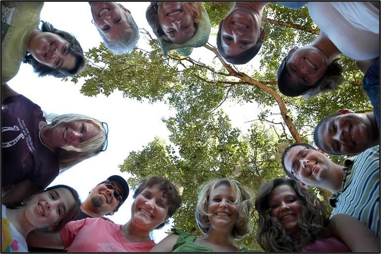volunteers in a circle