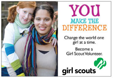 You make the difference - change the world one girl at a time and become a GS volunteer
